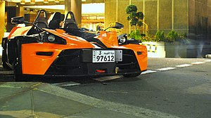 KTM X-Bow - A Kuwaiti-registered KTM X-Bow pictured in London.