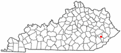 Location of Hazard, Kentucky