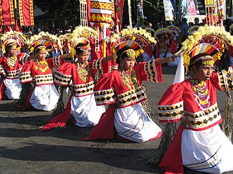 Kaamulan - Street dancing, one of the main events during the Kaamulan Festival