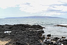 The gently sloping flanks of Kaho?olawe shield volcano (viewed from Makena on the neighboring island Maui)