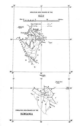 Gori Ganga - Drainage map
