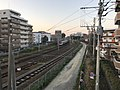 Kashii Line and Kagoshima Main Line on north side of Kashii Station 4.jpg