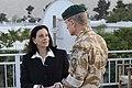 Kathleen Troia McFarland with ISAF Lt Gen J.B Dutton.jpg