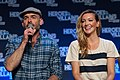 Katie Cassidy and Paul Blackthorne HVFF 2016 02.jpg