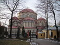 Kazan church in Voskresensky Novodevichy monastery (from cemetery).JPG