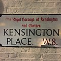 Kensington Place street sign, London W8.jpg
