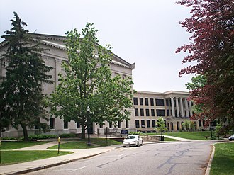 Ohio State Normal College at Kent - Cartwright Hall on the left with Kent Hall on the right in 2009.