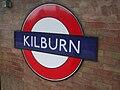 Kilburn station roundel.JPG