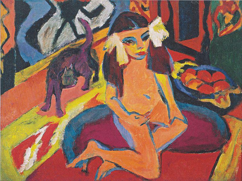 File:Kirchner - Mädchen mit Katze (Fränzi).jpg