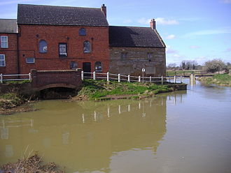River Nene - The River Nene at Kislingbury Watermill, Northamptonshire