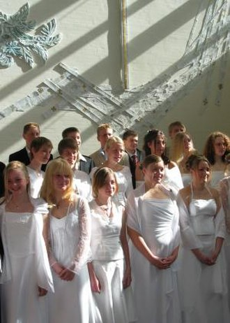 Church of Denmark - Children preparing to be confirmed