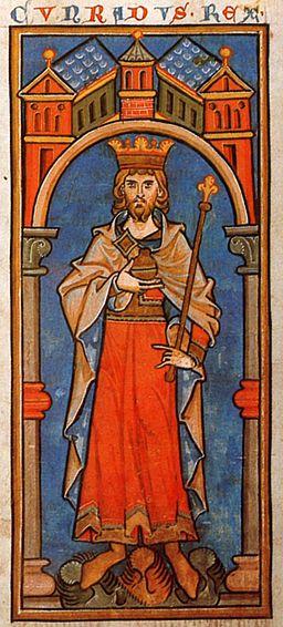 Konrad III Miniatur 13 Jahrhundert