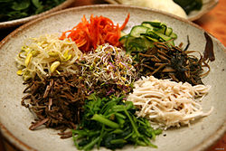 Korean food-Bibim ssambap ingredient-01.jpg
