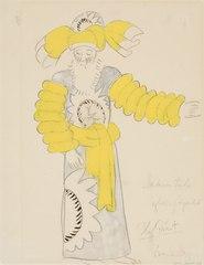 Kostymskiss av Isaac Grünewald - Sakuntala