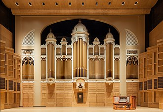 Kotzschmar Memorial Organ - The newly renovated Kotzschmar Organ at Merrill Auditorium, Portland, Maine. October, 2014