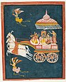 Krishna and Rukmini as Groom and Bride in a Celestial Chariot Driven by Ganesha LACMA M.74.13.jpg