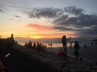 Kuta - Kuta beach at Sunset in December