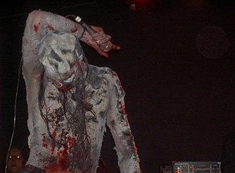 Shining (Swedish band) - Lead vocalist Kvarforth photographed while masked on stage on 3 February 2007.