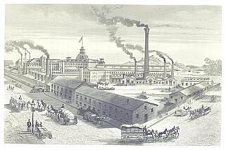 Economy of the United States - Washburn and Moen Manufacturing Company in Worcester, Massachusetts, 1876