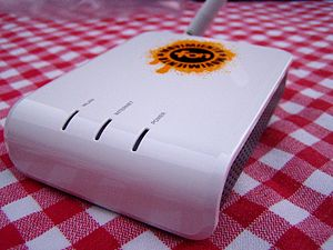 La Fonera (FON WiFi router) : front of the router