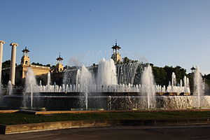 Magic Fountain of Montjuïc - Daytime view of the fountain