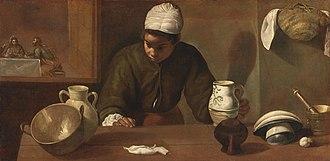 The Kitchen Maid - Image: La mulata, by Diego Velázquez