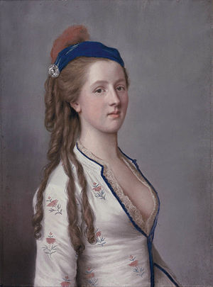 Charles Compton, 7th Earl of Northampton - Lady Ann Somerset, Countess of Northampton (attributed to Jean-Étienne Liotard)