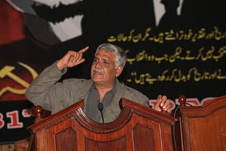 Socialism in Pakistan - Lal Khan addressing The Struggle's annual Congress in Lahore in 2008