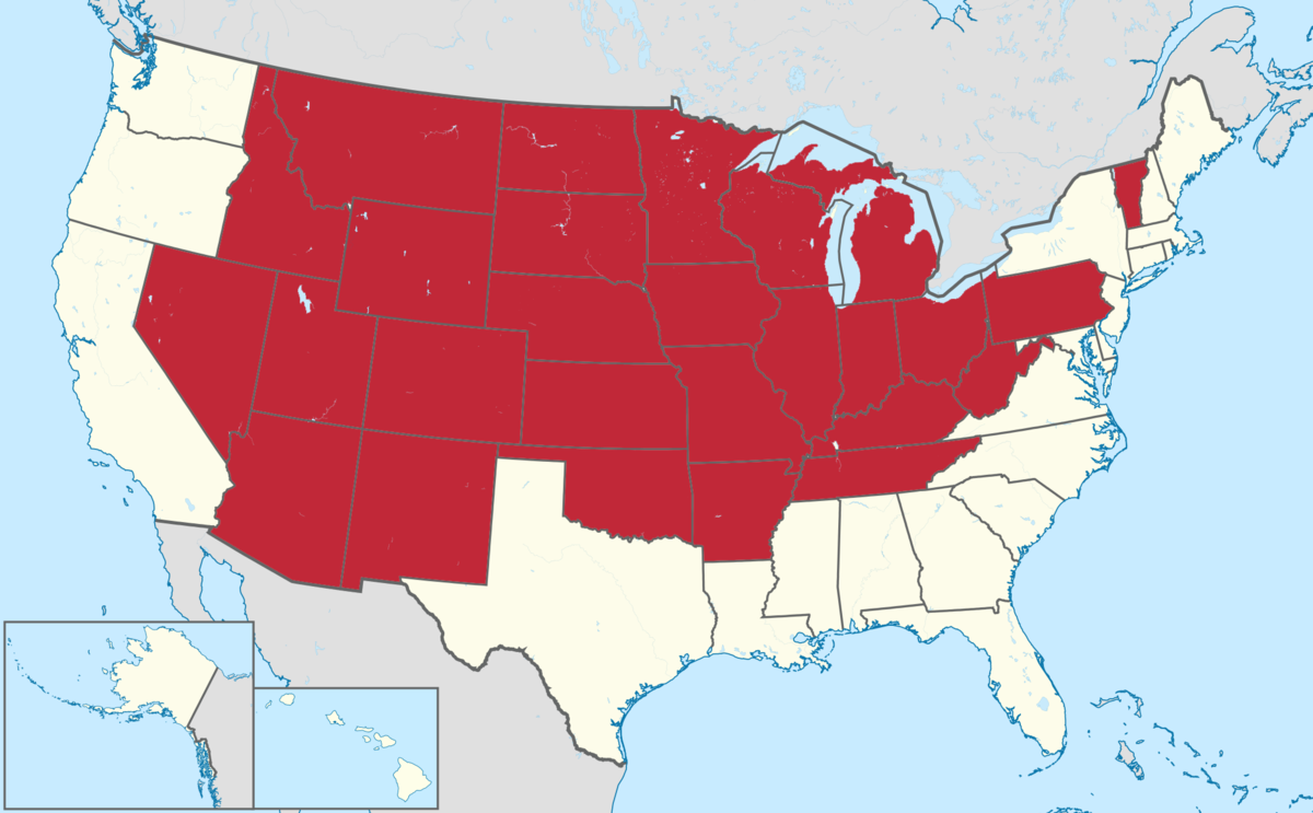 List of landlocked US states Wikipedia