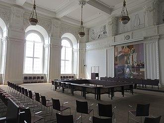 Landstinget - The former Landsting chamber in Christiansborg Palace in 2018.