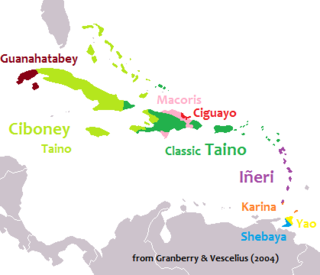 Taíno language Arawakan language; the principal language throughout the Caribbean at the time of Spanish contact