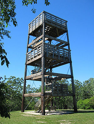Lapham Peak Unit, Kettle Moraine State Forest - Image: Lapham Peak tower