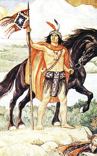 Mapuche leader in times of war