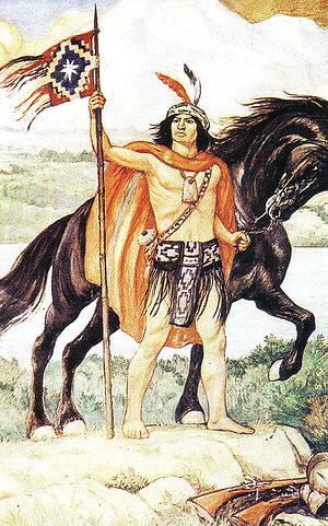 Toqui - Toqui Lautaro, painting by Pedro Subercaseaux.