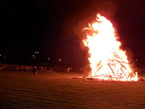 Saint John's Eve - Fire of St John's Eve in Quimper.