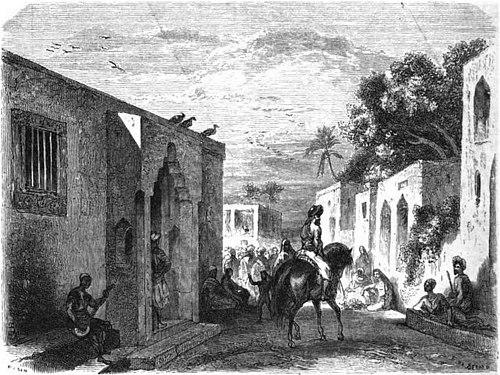 Une Rue De La Ville De Zanzibar, Dans Lu0027île De Ce Nom (côte Orientale De  Lu0027Afrique). U2014 Dessin Du0027après Nature, Par M. De Bérard.