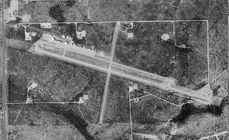 Lea County Jal Airport - USGS aerial image, 1997 (North is to the right)
