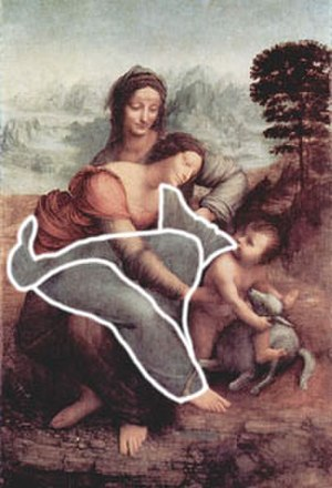 "The Virgin and Child with St. Anne (Leonardo) - The ""vulture"" identified by Freud"
