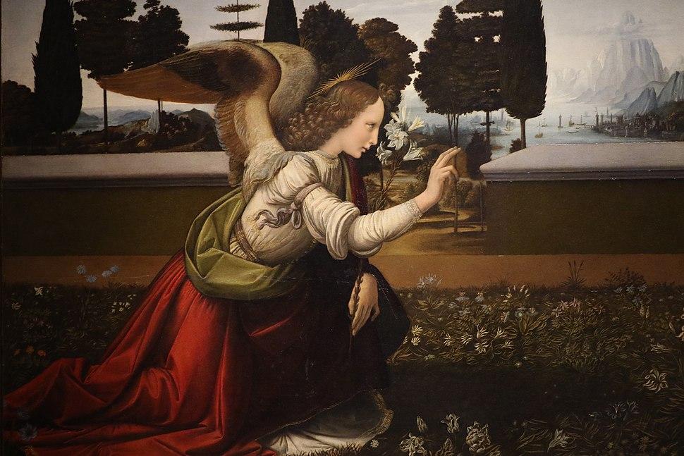 Leonardo da Vinci Annunciazione (dettaglio)