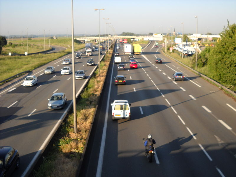 Motorway A1, in Lesquin, Nord, France.