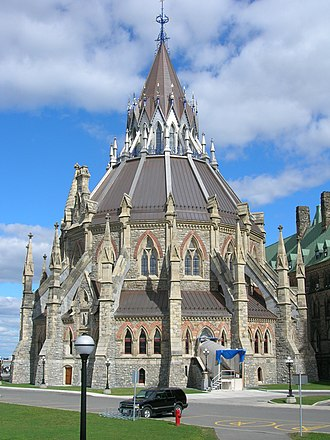 Gothic Revival architecture in Canada - The Library of Parliament