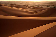 Desert landscape in Libya; 90% of the country is desert