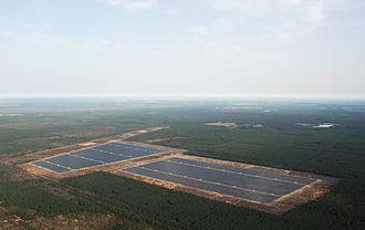 Solar power in Germany - Image: Lieberose Solarpark