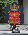 Lieutenant Governor of Guernsey car Saint Peter Port 2012 crest.jpg