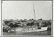 Grindal Island--Lifeboat at Grindal Island, South Australia (ca. 1950)