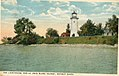 Lighthouse at Bois Blanc Island, 1919 postcard cropped.jpg