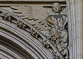 Lincoln Cathedral, Angel with scroll in lap. (s.6) (31425239394).jpg