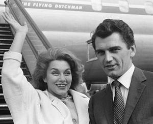Edmund Purdom - Purdom with Linda Christian in 1962