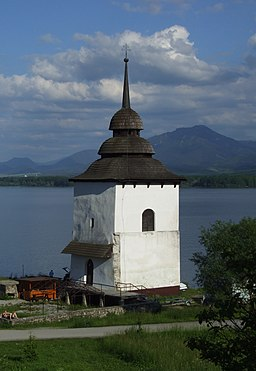 Liptovská Mara - church tower.jpg