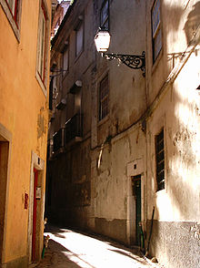 A street in Lisbon's old quarters.